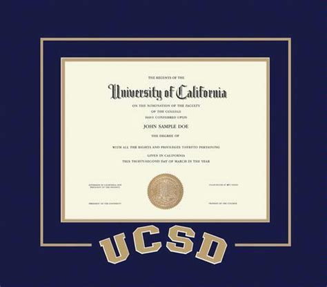Certificate Frame Us Letter Custom Diploma Frames Certificate Frames Framing Success Ucsd Diploma With Arched Letter