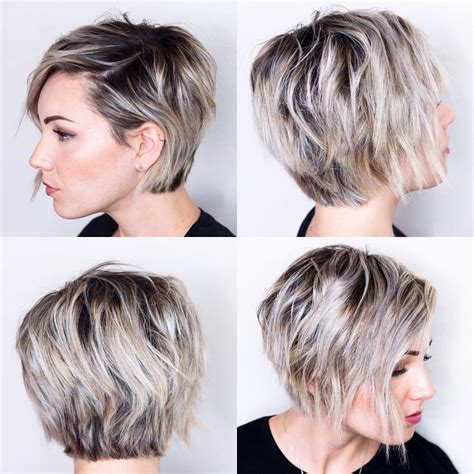 cute haircuts for fuller faces long pixie haircut front and back simple fashion style