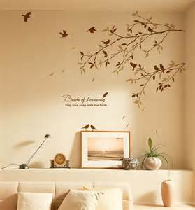 Wall Stencils For Bedrooms tree branch bird wall decals stickers wallstickery com