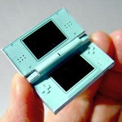 Nintendo Ds Papercraft - this amazingly detailed papercraft nintendo ds lite even