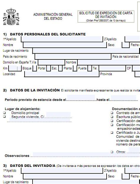 documentaci 243 n y tr 225 mites modelo de carta de invitacin para un extranjero modelo de