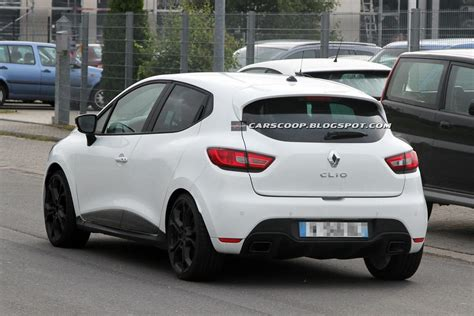 scoop 2013 renault clio rs 200 undisguised in white