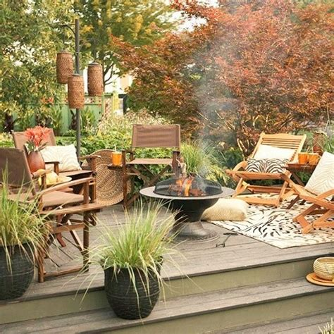 backyard decorating ideas home diy welcome the fall with warm and cozy patio decorating