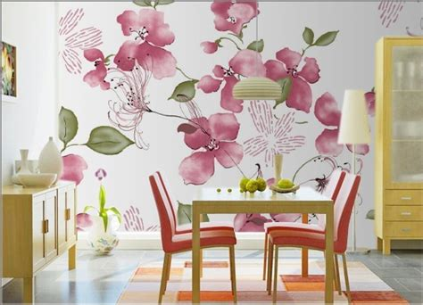Flower Wallpaper For Living Room