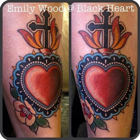 heartbeat tattoo studio sacred heart by emily wood black heart tattoo studio