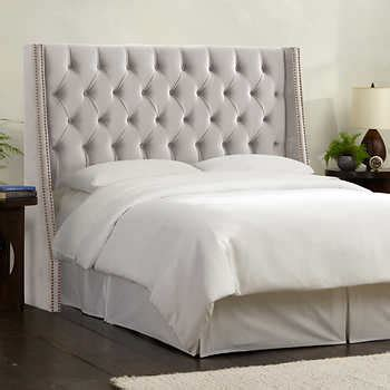 costco upholstered headboard olympia tufted upholstered headboard in various sizes dove