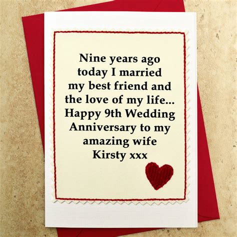 personalised  wedding anniversary card  jenny arnott