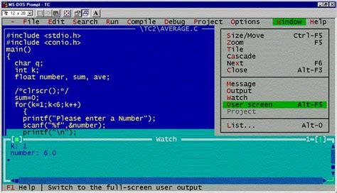 turbo c for windows 8 7 81 vista 32 bit 64 bits turbo c free download