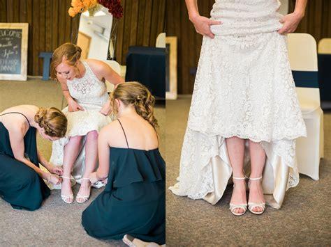 powderhorn golden retrievers low back wedding dress in fall colorado wedding real