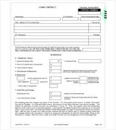 loan contract template loan contract template 20 exles in word pdf free