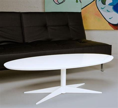 retro white coffee table oval standard rentals