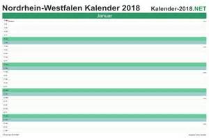 Kalender 2018 Nrw Kalenderwochen Kalender 2018 Nordrhein Westfalen
