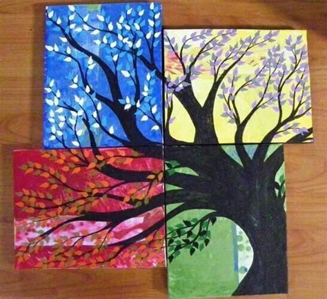 Painting 4 Seasons by 4 Seasons Tree Painting For The Home