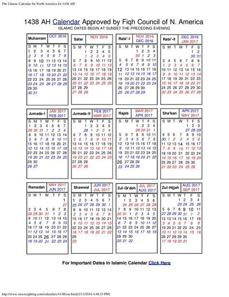 Calendrier Islamique 1439 Islamic Calendar Isgvf
