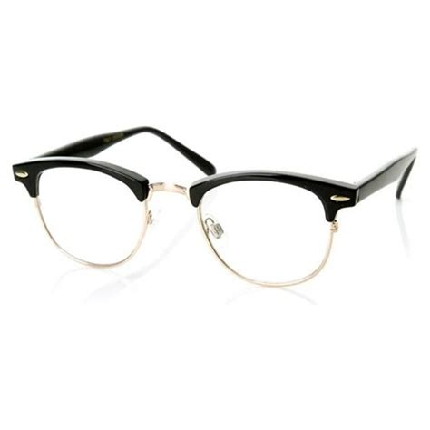 Frame Kacamata Rayban 611 half frame club master glasses cool horns glasses and masters