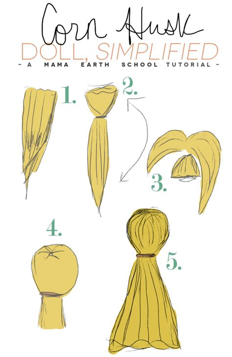 how to make corn husk doll clothes how to make a simple corn husk doll for autumn