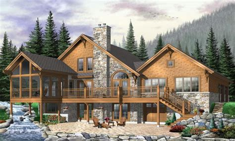 hillside cabin plans hillside house plans with walkout basement modern hillside