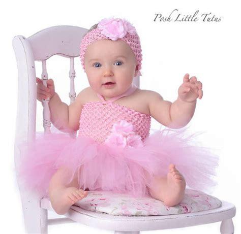 baby in a dress tutu precious pink baby crochet dress