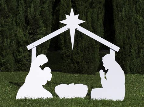 outdoor christmas nativity set www imgkid com the