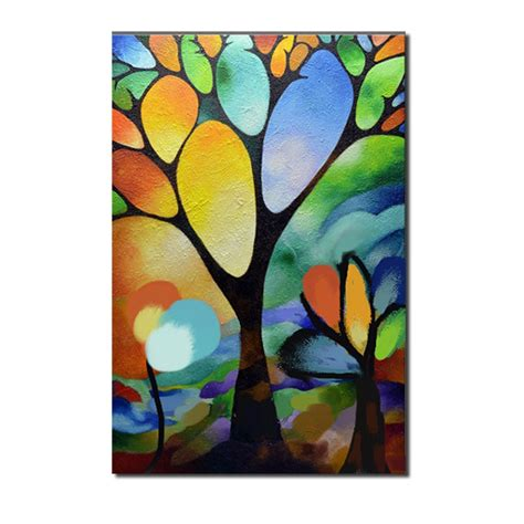 abstract tree landscape paintingtree scenery canvas