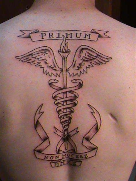 medical symbol tattoo designs 6 symbol back tattoos