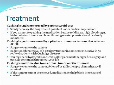 cushings disease treatment cushing s hypercortisolism ppt