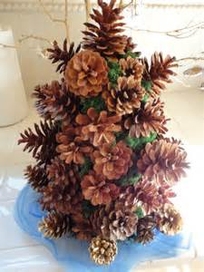 a little more christmas a tiny pine cone tree i made