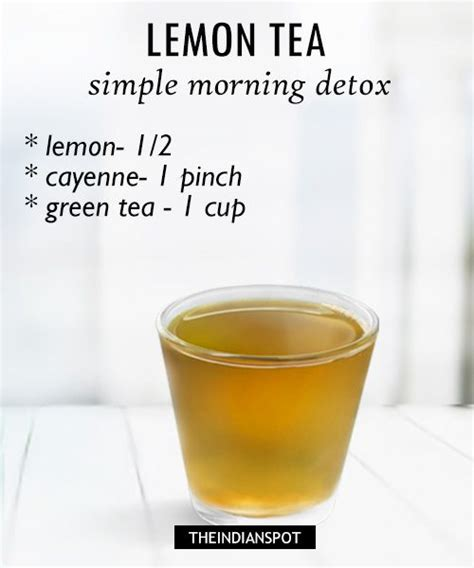 Wellness Lemon Tea Detox Water Recipe by Morning Detox Tea Recipes For Healthy And Glowing