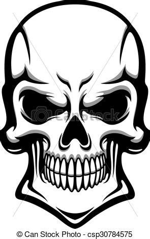 danger human skull with eerie grin angry human skull with