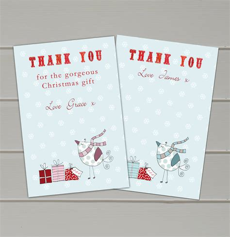 images of christmas thank you cards personalised christmas thank you cards by molly moo