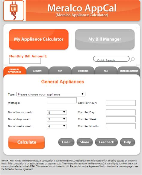 Calculate Electricity Bill are you planning to buy an electric appliance calculate