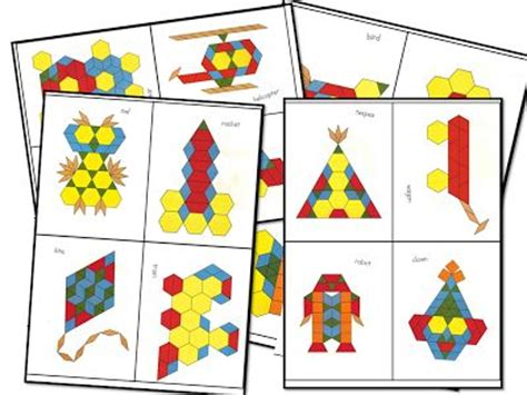 pattern block pictures kindergarten 17 best images about kindergarten shapes on pinterest