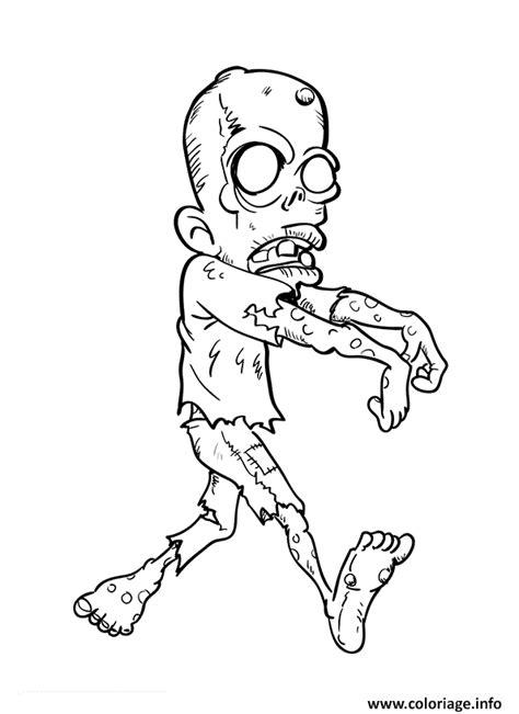 Coloriage Zombie Halloween Pustule dessin