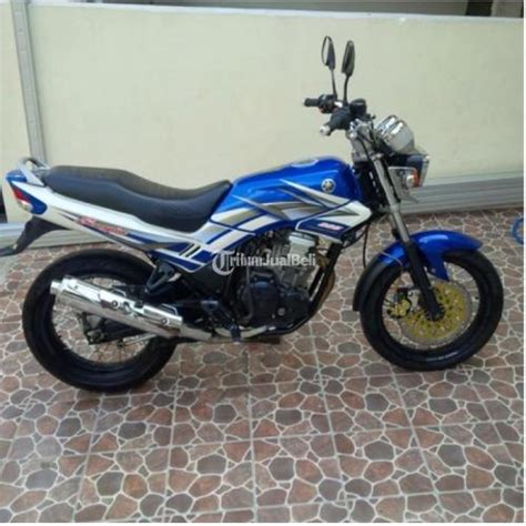 Mesin Yamaha Scorpio yamaha scorpio mesin standar tahun 2005 warna biru putih