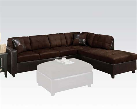 reversible sofa reversible sectional sofa milano chocolate by acme