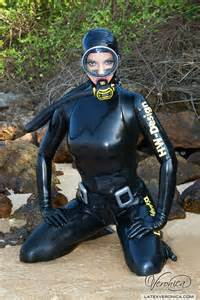 heavy dive gear frogwoman