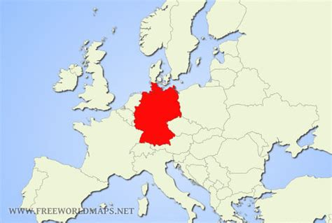 germany location map where is germany located on the world map