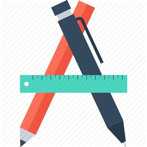 drawing equipment graphic illustration pencil ruler art design development draw graphic pencil ruler