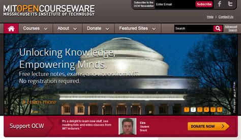 Mit Mba Mitopencourseware by Top E Learning Resources For Free Courses