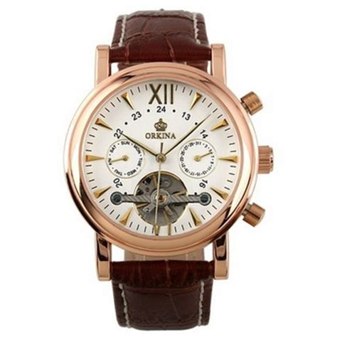 Ess Luxury Leather Automatic Mechanical Diskon ess luxury leather automatic mechanical wm308 gold jakartanotebook