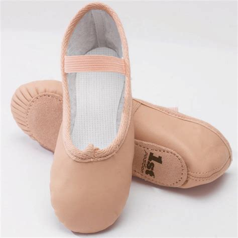 Balet Shoes 1 1st position pink leather ballet shoes