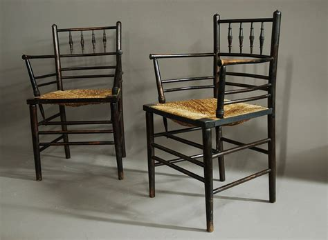 Set of six morris and co sussex chairs at 1stdibs