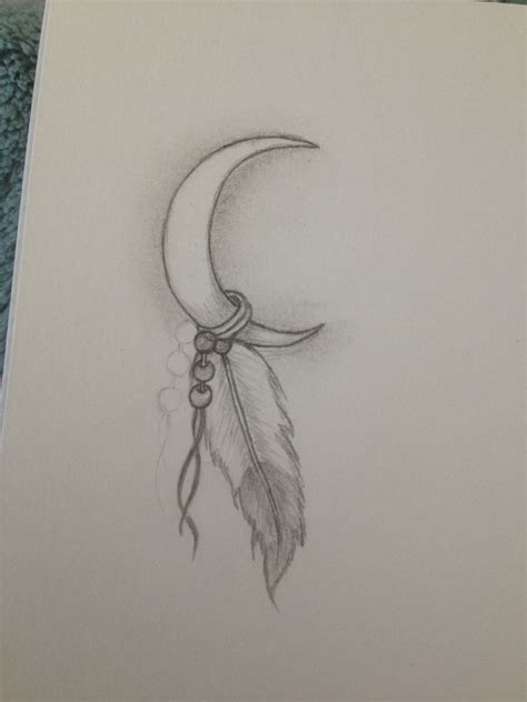 drew tattoo drew my next its my indian name white moon feather