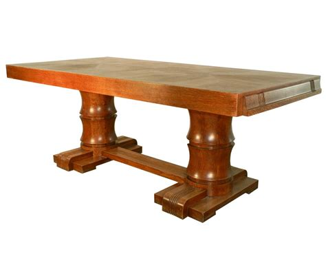 Modern Oak Dining Table Charles Dudouyt Deco Rustic Modern Oak Dining Table Modernism