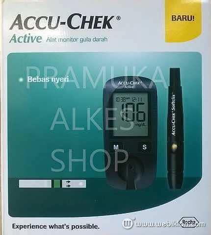 Alat Tes Accu alat test gula darah accu chek active murah pramuka alkes
