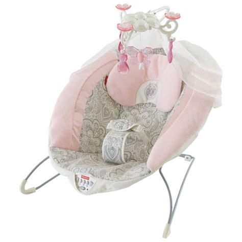 pink baby bouncer swing rose chandelier deluxe bouncer