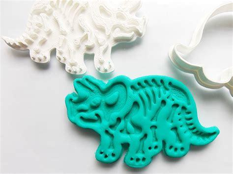 cortador de biscoito  pasta fossil dinossauro kit pcs