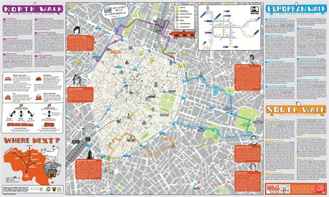 large detailed tourist map  brussels city center