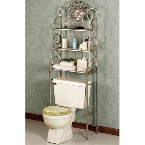 short bathroom space saver bathroom space saver over toilet nickel with sleek metal