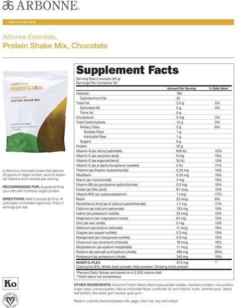 3 protein facts arbonne protein powder nutritional facts nutrition ftempo